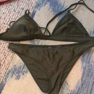 Hunter green forever 21 swim suit bikini